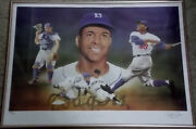 Roy Campanella Signed Christopher Paluso Lithograph Coa Brooklyn Dodgers /250