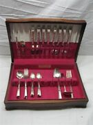 Morning Star Silverplate Dinner Set And Chest Oneida Community Flatware 48 Pc Lot