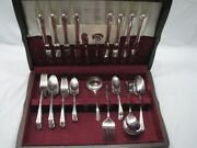 Homes And Edwards Spring Garden Silver Plate Flatware 55 Pc Set