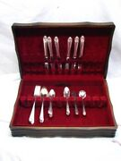 Holmes And Edwards Inlaid Lovely Lady Silverplate Flatware Set 32 Pcs Flatware B