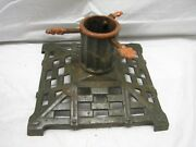 Vintage Victorian Cast Iron Christmas Feather Tree Stand Holiday Aluminum D