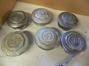 1970and039s Buick Hup Caps Aluminum W/ Chrome All 6x 3 13/16 Od Button Vintage F8