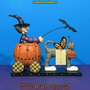 Williraye Ffgh01499 Halloween Driver Resin Witch And Butterfly Cat Figurine Mib
