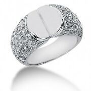 2.25 Carats Womenand039s Round Brilliant Cut Diamond Cocktail Ring In 14k White Gold