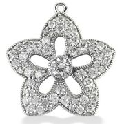 1.50 Carats Womenand039s Round Cut Star Diamond Pendant In 14k White Gold