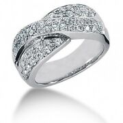 1.58 Carats Tw Womenand039s Round Brilliant Cut Bow Diamond Ring In 14k White Gold
