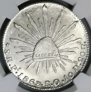 1863-pi Ngc Ms 63 Mexico 8 Reales Potosi Mint State Silver Coin 19020603c