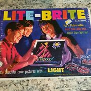 Lite-brite 1967 Vintage Over 320 Pegs 10 Pages Tested Works Original Box 5455