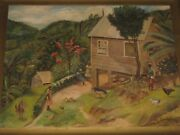 Jo Cantine 1893-1987 Tropical Oil Painting Titled Seth Campbeland039s House