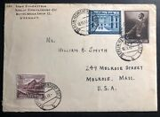 1940 Berlin Germany Currency Control Censor Cover To Melrose Ma Usa