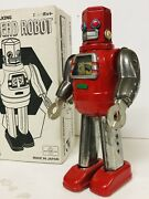 Hex Head Robot Andndash Rare Tin Wind-up Toy Andndash Metal House Japan Andndash Mint In Box R.m Tra