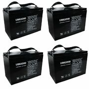 New 4 Pack Ub62000 6v 200ah Group 27 Replacement Battery For Firstpower Lfp6200