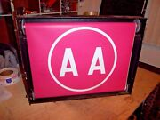 Vintage Ny Nyc Subway Sign Complete Roll Sign And Box Route Color Ind Historical