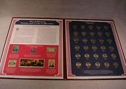Jefferson Stamp And Coin Commemorative Collection 30 Years Of Nickels 1964 - 1993