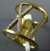 Estate Wide .28ct Diamond 18kt Yellow Gold 3d Roman Numeral Xi Love Ring