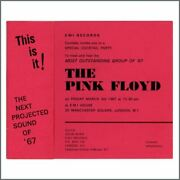 Pink Floyd 1967 Launch Party Invitation Uk