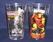 Toon Tumblers Iron Man Clear Pint Glass 2008 Nycc Exclusive Marvel Comics