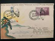 1934 Us Sea Post Ss President Coolidge Japan Karl Lewis Cover To Schenectady Usa