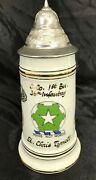 1982 Us Army 36th Infantry Division Named Officers Beer Stein