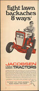 Vintage Ad For Jacobsen Lawn And Garden Tractors Red Photo 012117