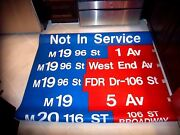 Complete Nyc Bus Sign 100 St Harlem Madison Sutton Broadway Ny Subway Roll Sign