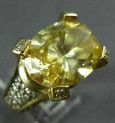 Estate Extra Large 8.52ct Diamond And Aaa Yellow Topaz 14kt Two Tone Gold Fun Ring