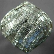 Large 2.55ct Diamond 18k White Gold 3d Round And Baguette Hershey Criss Cross Ring