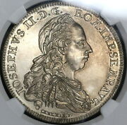 1777 Ngc Unc Germany Hall Silver Taler Dav-2280 Coin 17082203c