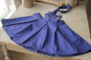 Children's Clothing French Overall Shorts Girl's 1960's Blue Pleated With Bib