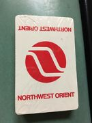 Nos New Sealed Vintage Mid Century Northwest Orient Airlines Playing Cards Deck