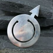 Vintage Authentic And Co Sterling Silver 925 Mars Male Sex Symbol Bookmark
