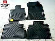 New Oem 12-13 Toyota Tundra Double And Crew Max All Weather Floor Mats 4-piece Set