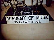 Bam Brooklyn Academy Of Music Performing Arts Venue Ny Nyc Subway Sign Porcelain