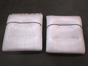 1998 Sea Ray Signature 230 Boat Front Bow Seat Backrest Set White And Blue