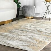 Nuloom Contemporary Contemporary Abstract Area Rug In Gold