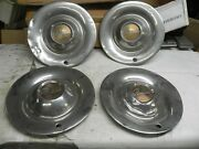 1949-1950 Pontiac 15 Inch Hub Caps Wheel Covers Some Dents And Dings Vintage