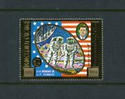 Cambodia  Scottc45 John F Kennedy And Apollo 11 Gold Foil Stamp Mint Nh