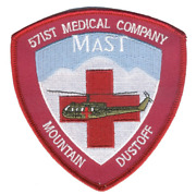 4 Army 571st Aviation Medical Company Air Ambulance Mast Embroidered Patch