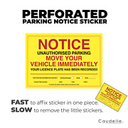 Vehicle Warning Stickers | Perforated A6 Size | Australia | Car Violation Labels