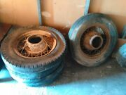 Vintage 1920and039s 1930and039s Wire Spoke Wheels 1 Set Of 5