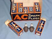 Ac 18mm 30 Vintage Racing Spark Plugs Nos W-box Offenhauser Indy 500 Flathead V8