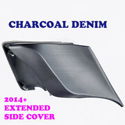 Charcoal Denim Stretched Extended Side Cover Fit 2014+ Harley Street Road Glide