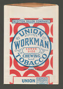 [70917] 1920and039s Union Workman Chewing Tobacco Sample Pouch