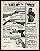 1942 Police Riot And Gas Shoulder Gun Model H And S P Tear Gas And 150 Pistol Ad