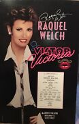 Raquel Welch Signed Victor Victoria Broadway Poster Windowcard