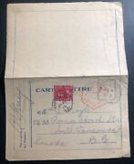 1916 Canadian Field Post Wwi Postcard Censored Cover To Vancouver Canada
