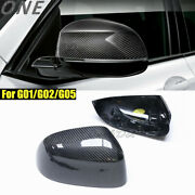 Carbon Fiber Mirror Cover For 18+ Bmw X3 G01 X4 G02 X5 G05 Replace Shell Casing