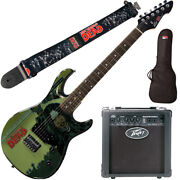 Peavey Walking Dead Michonne Splash Guitar With 6 Amp Group Strap And Bag