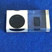 Rare Rolls Royce Logo Desk Top Thermometer Paper Weight Never Used