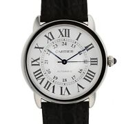 Ronde Solo Silver Dial Automatic Steel 42 Mm Xl Watch W6701010 Complete